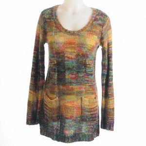 Bobby Brooks Orange Loose Knit Sweater size Medium